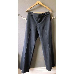 Banana Republic Wide Leg Trouser Dress Pants Navy